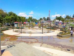Pertama Di SulSel, Taman Dengan Air Mancur Dry Fountain Akan Diresmikan Bupati Soppeng