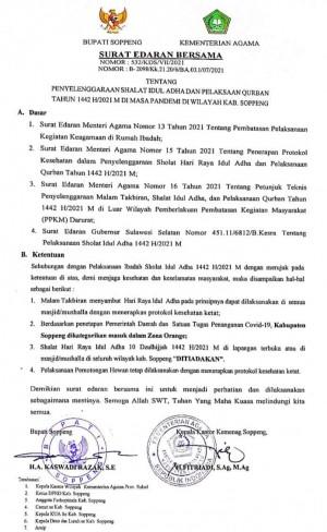 Soppeng Berstatus Zona Orange Covid, Shalat Idul Adha Di Masjid/Lapangan Akhirnya Ditiadakan