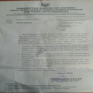 Layanan Dan Jam Operasional Restoran/Warkop Kembali Dibatasi di Soppeng