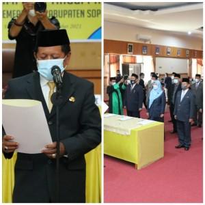 Gerbong Mutasi Pejabat Soppeng Bergerak,12 Pejabat Eselon II Pindah Jabatan