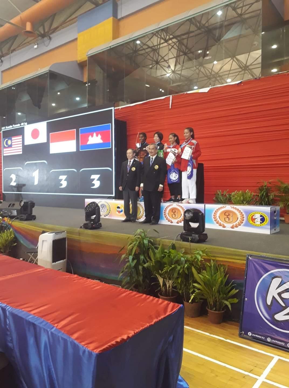 Andi Mesyara, Karateka Cantik Asal Soppeng Juara III AKF Di Malaysia