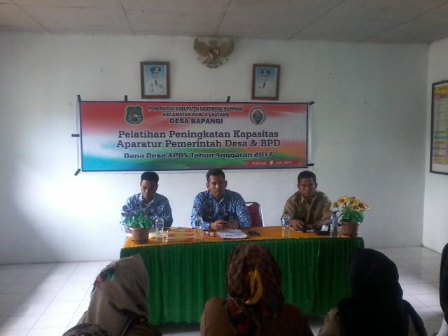 Aparat Desa Bapangi Ikuti Pelatihan Peningkatan Aparatur Desa Dan BPD