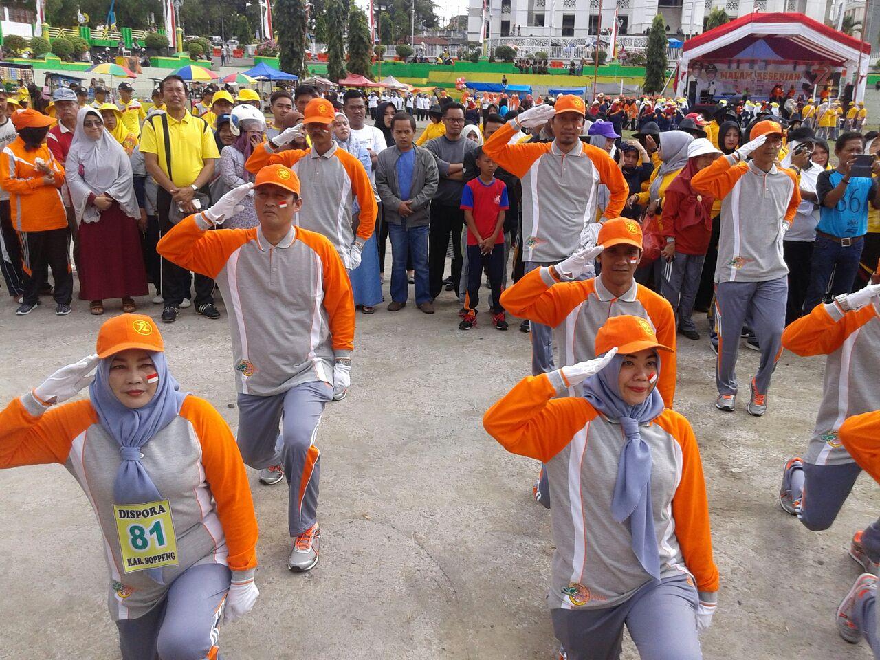 27 Majelis Taklim Di Soppeng Ikuti Gerak Jalan Indah