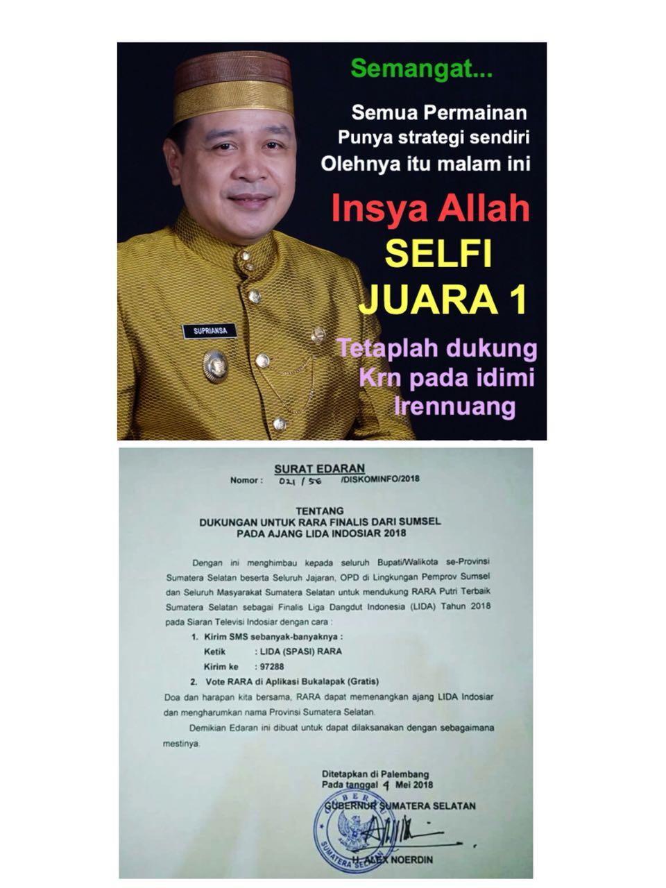 "Edaran Gubernur Sumsel ""Ditaklukkan"" Meme Wakil Bupati Soppeng"