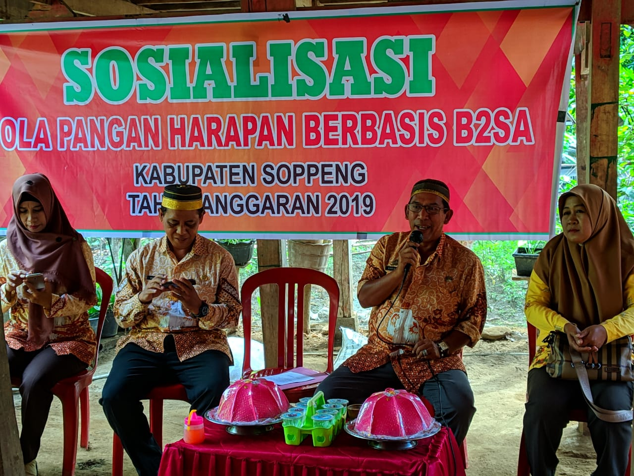 DPKP Soppeng Sosialisasi Pola Hidup Sehat Di Talepu