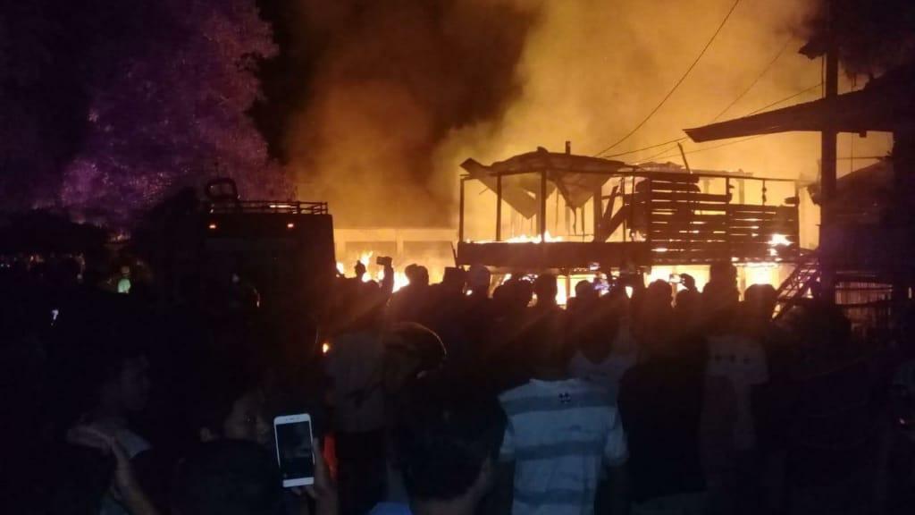 Tiga Rumah Ludes Terbakar Di Talepu