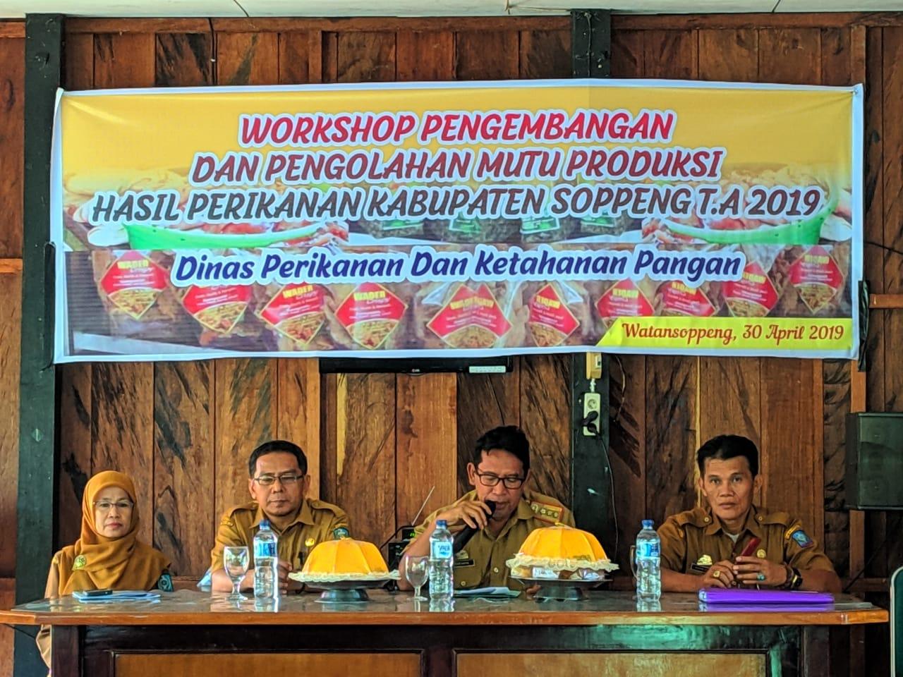 DPKP Soppeng Gelar Workshop Pengembangan Dan Pengelolaan Mutu Produksi