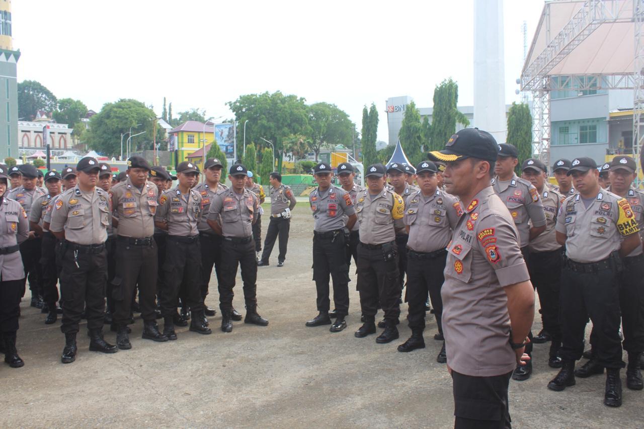 Antisipasi Keamanan, Kapolres Soppeng Pimpin Latihan Dalmas