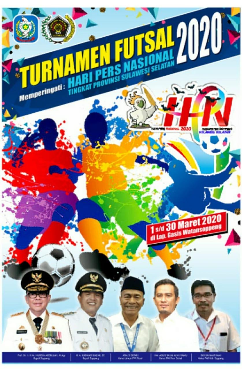 Peringati HPN, 90 Tim Nyatakan Siap Ikut Turnamen Futsal PWI Soppeng