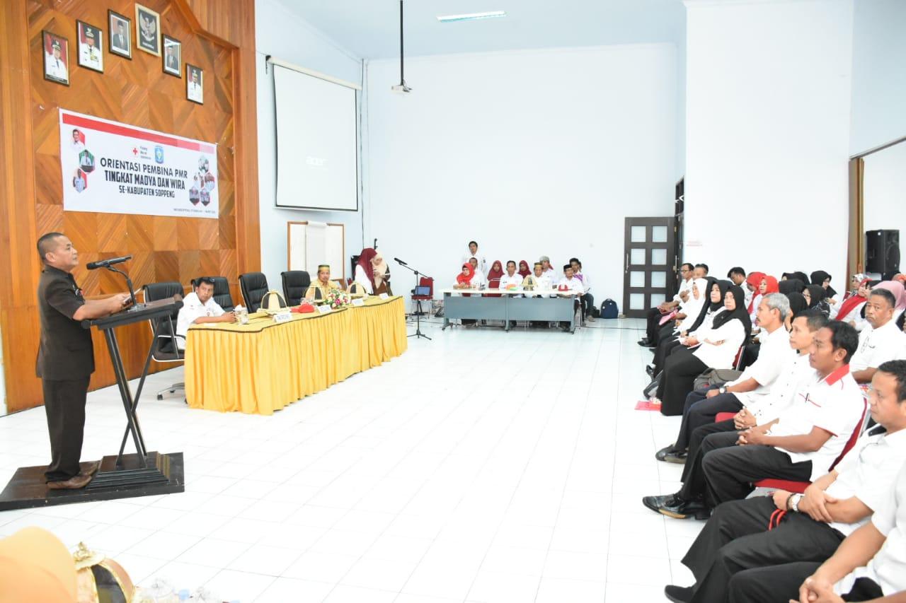 HA Tenri Sessu Buka Orientasi Pembina PMR Se Kabupaten Soppeng