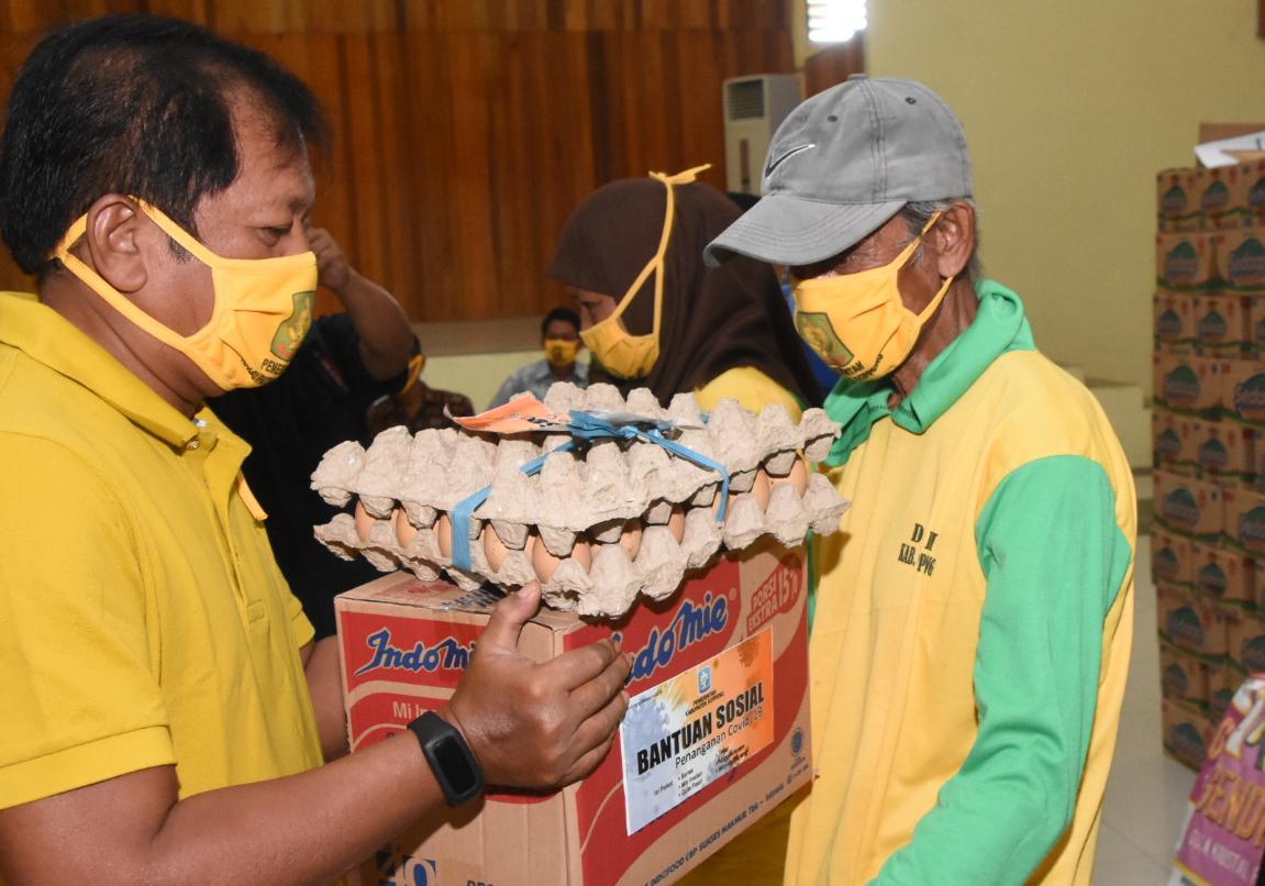 Dampak Covid 19, Pemkab Soppeng Salurkan 2.200 Paket Bansos Sembako
