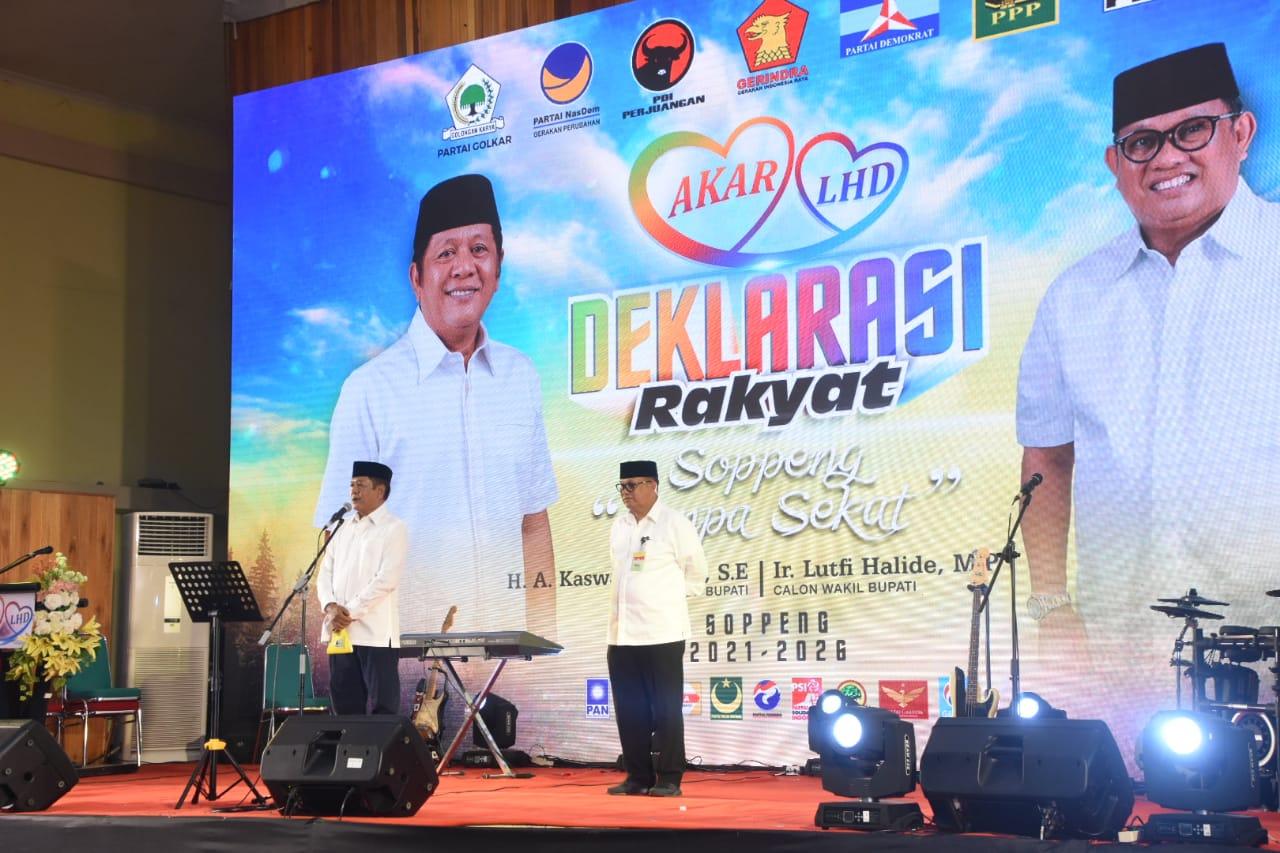 Sapu Bersih Rekomendasi Partai,Pasangan AKAR- LHD Didukung Koalisi 'Raksasa' di Pilkada