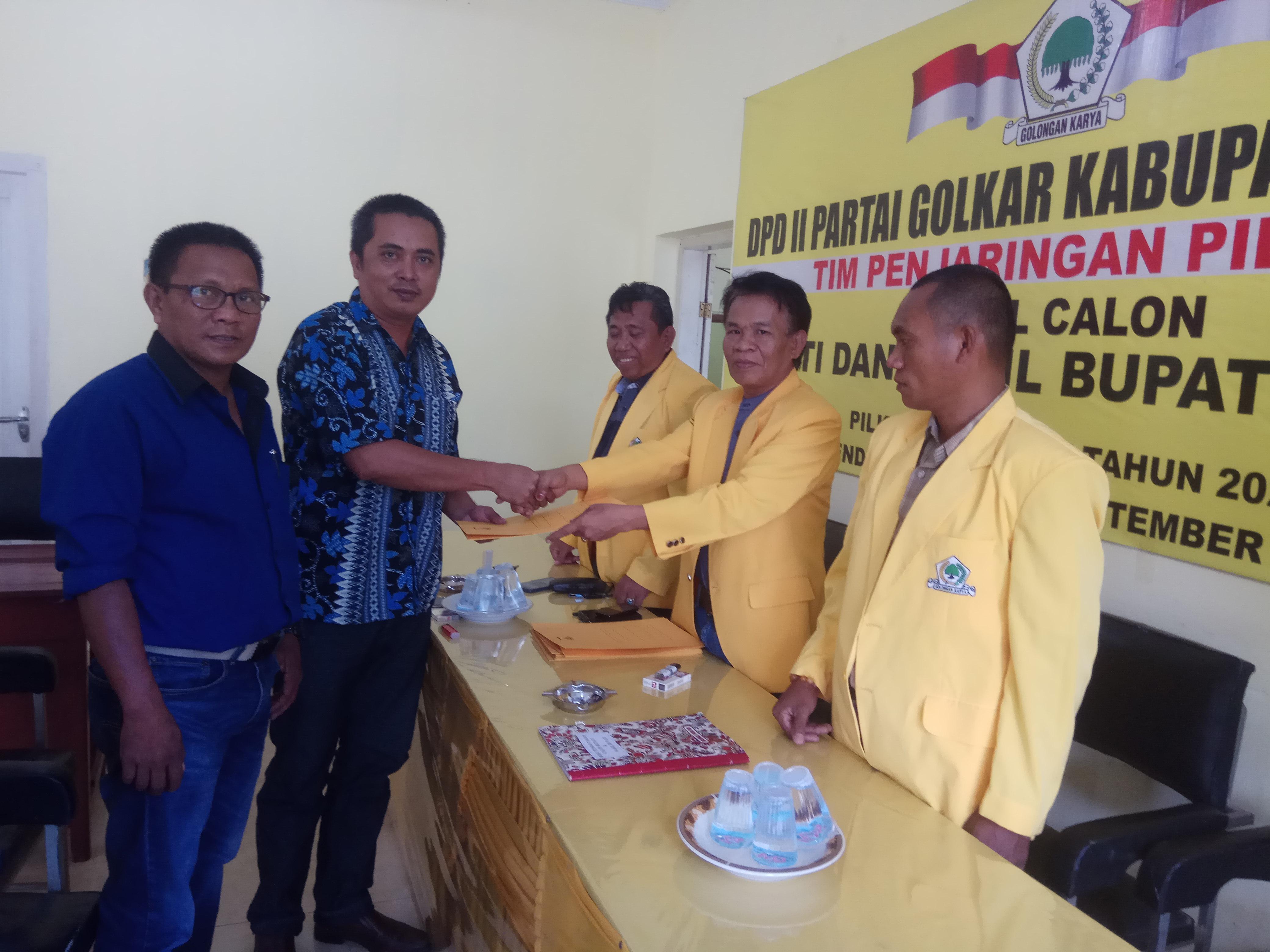 Haeruddin Tahang,Pendaftar Pertama Balon Wakil Bupati Di Partai Golkar