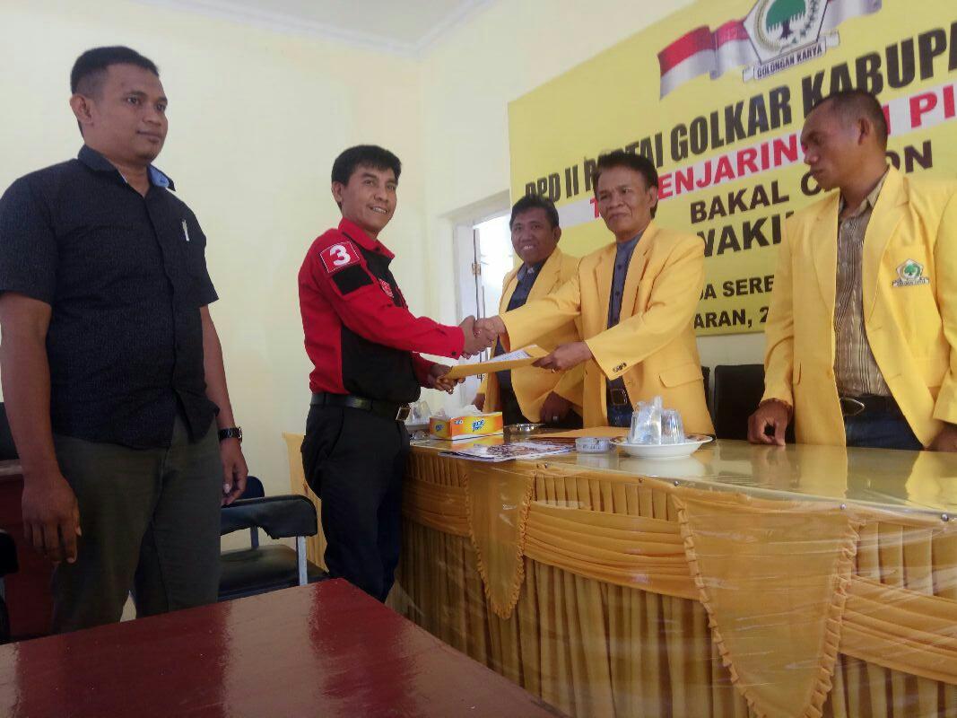 Setelah Haeruddin Tahang, Giliran A Mapparemma Mendaftar Balon Bupati Di Partai Golkar