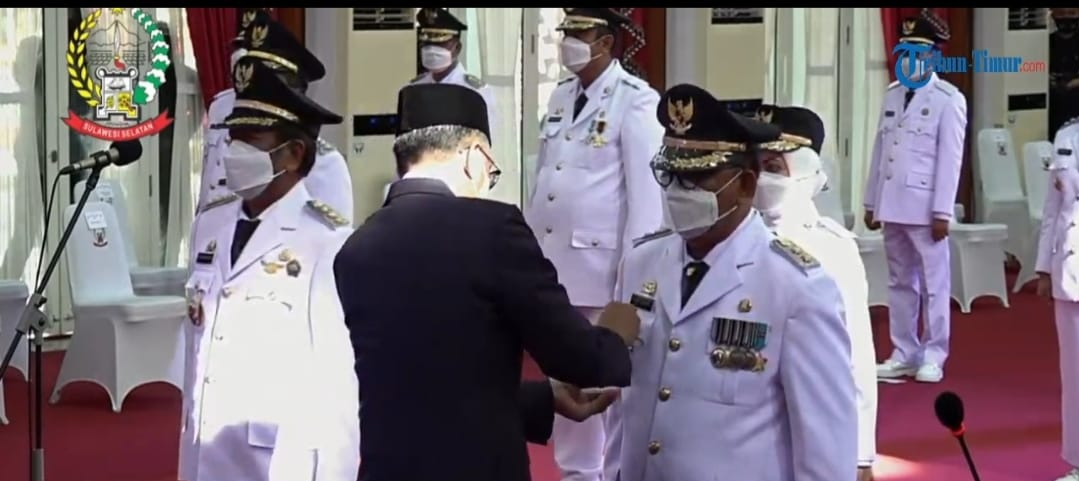 Kaswadi - Lutfi Halide Resmi Jadi Bupati/Wakil Bupati Soppeng