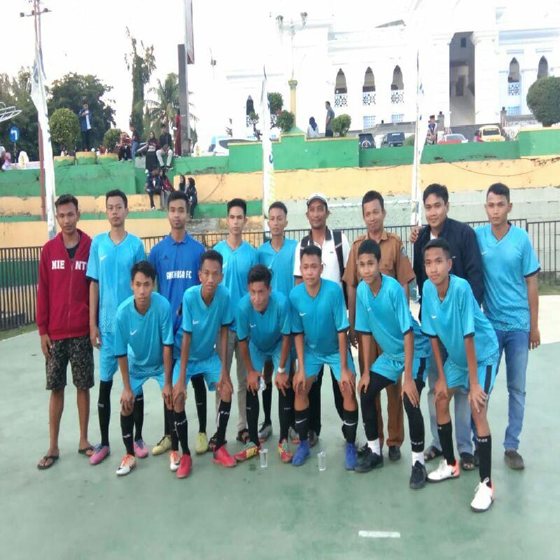Turunkan Tim U-19 ,Desa Timusu Menang Dilaga Perdana Turnamen Futsal PWI