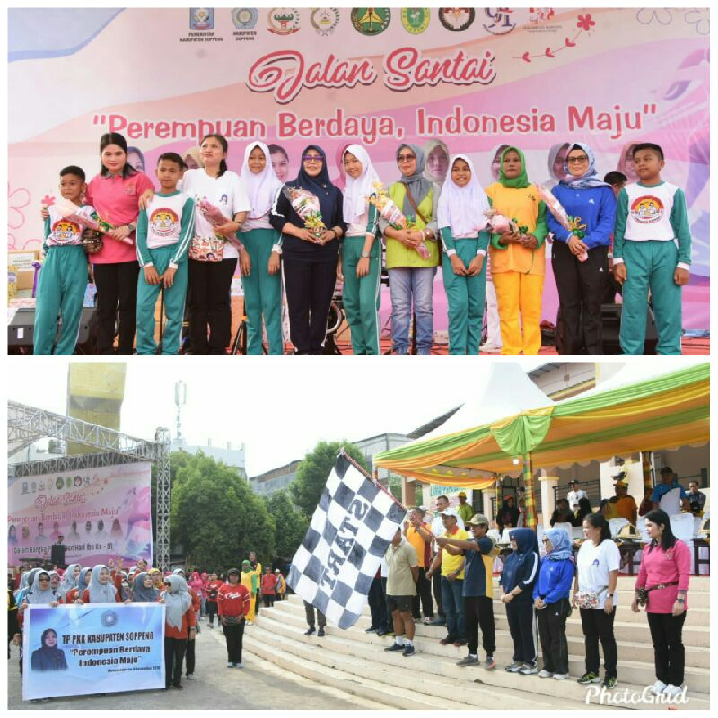 Gerak Jalan Sehat TP PKK Kabupaten Soppeng Bertabur Hadiah
