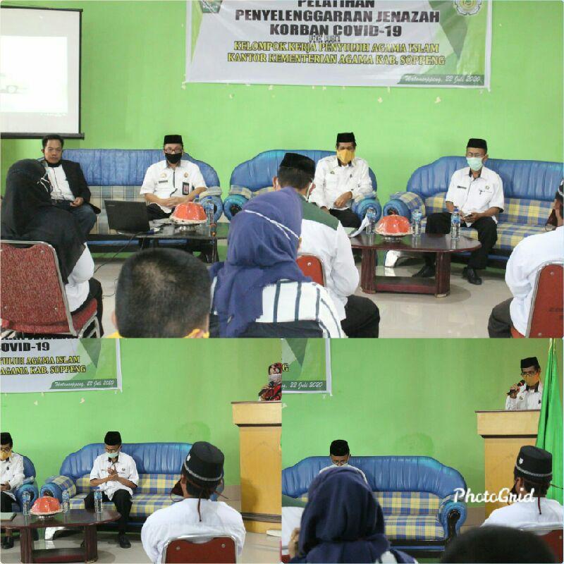 Pokjaluh Soppeng Bersama UPZ Lalabata Gelar Pelatihan Penyelenggaraan Jenazah Pasien Covid