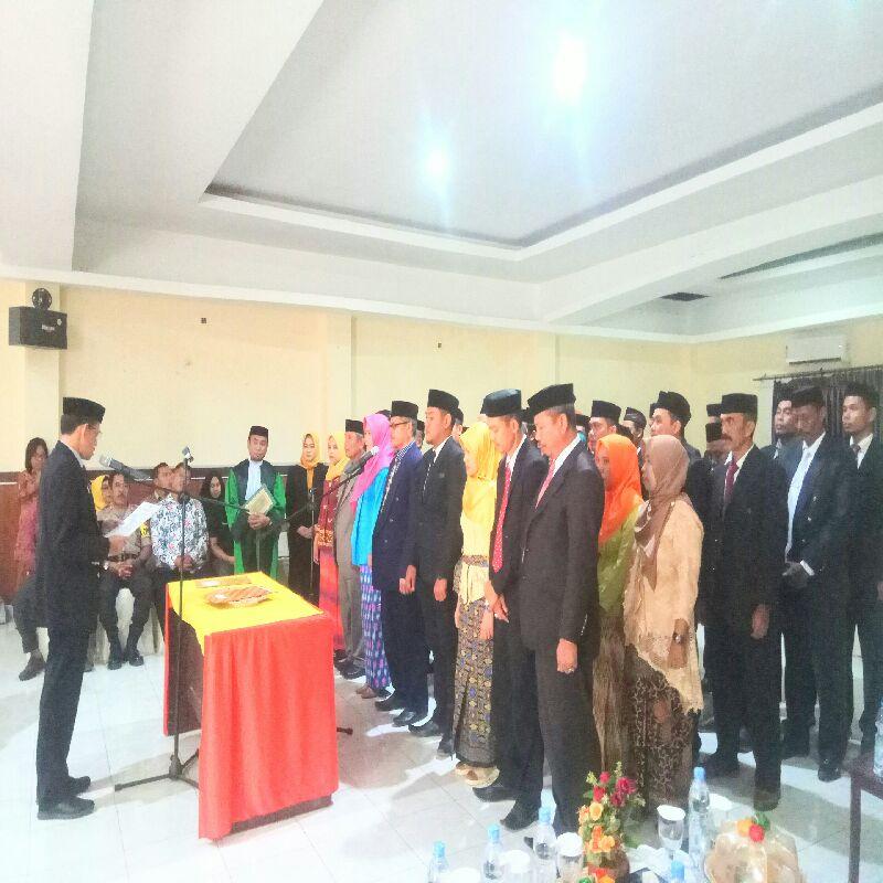 40 Anggota PPK Dilantik,KPU Soppeng Akui Kekurangan Rp. 2,9 Milyar Untuk Honor PPK &PPS