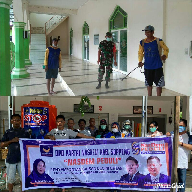 Anggota DPRD Soppeng Asal Nasdem Bantu Warga Cegah Penyebaran Covid 19