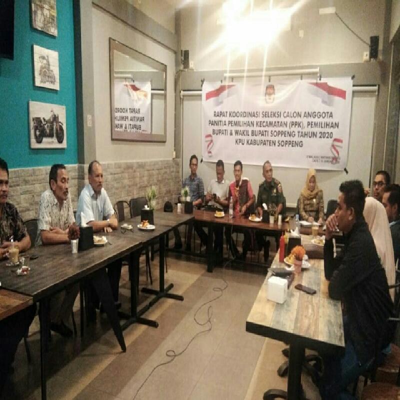 Bahas Rekruitmen PPK,KPU Soppeng Gelar Rapat Koordinasi