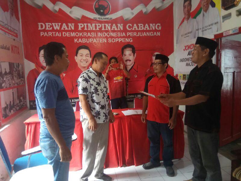 Lutfhi Halide, Balon Bupati Ketiga Yang Mendaftar Di DPC PDIP Soppeng